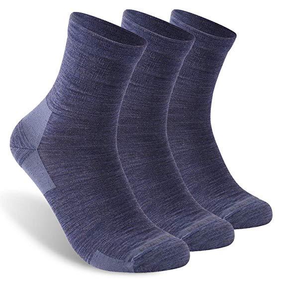 Спортивные беговые носки, ZEALWOOD унисекс из мериносовой шерсти, антиблистерные носки для пеших прогулок, 1/3 пар