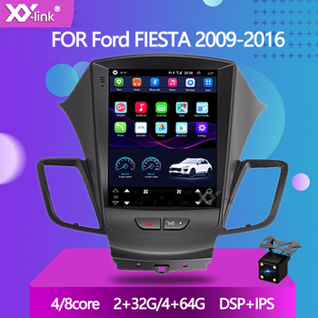 """9.7"""" Tesla Style Screen Android 10.0 Car DVD GPS Player For Ford FIESTA 2009-2016 Car Radio Stereo Head Unit Navigation No 2 Din"""