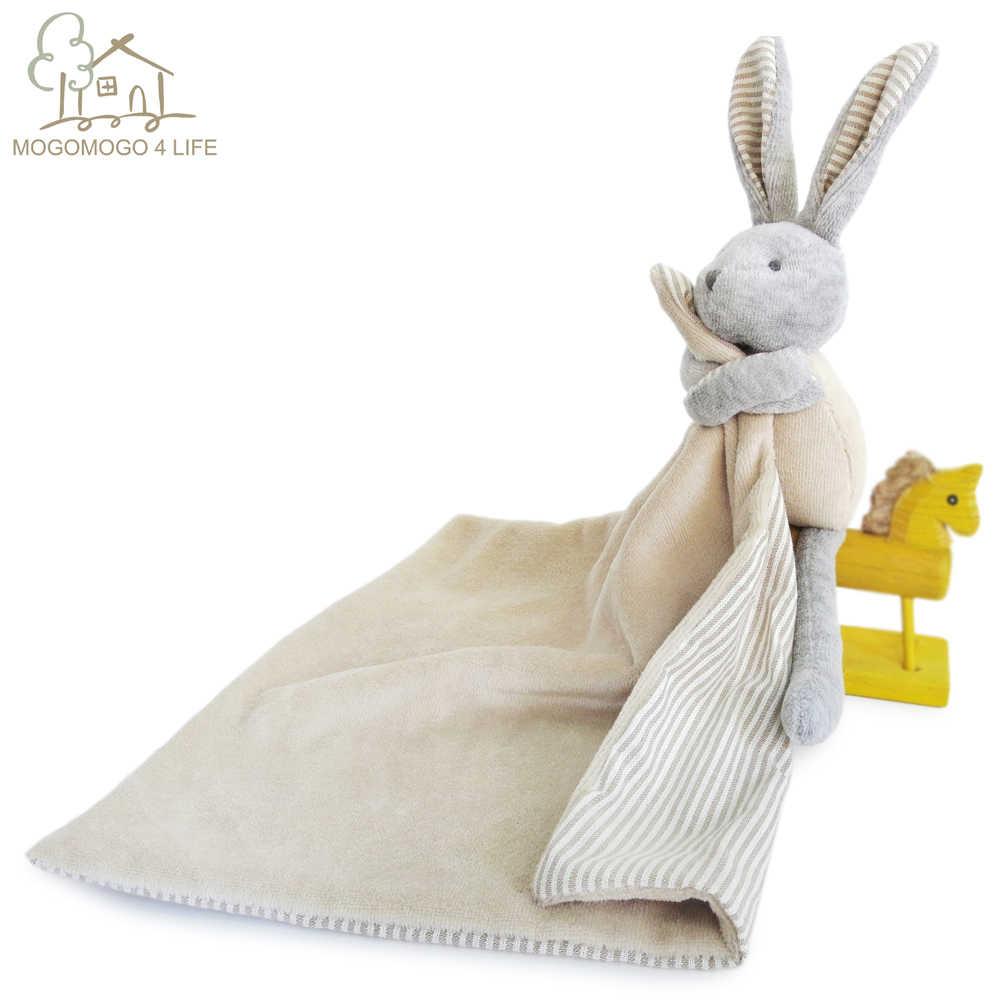 Luksusowe Cartoon Bunny pluszowe lalki Ecofriendly Baby kojący ręcznik miękkie neutralne dziecko pocieszyciel zabawka królik miękka zabawka 0-12 miesięcy