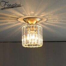 Luxury Crystal Iron Ceiling Lighting LED Ceiling Light Fixture Indoor Decor Living Room Bedroom Hotel Aisle Foyer Ceiling Lamp
