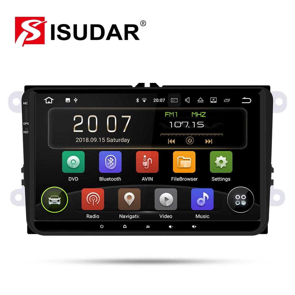 Isudar 9 1 Din Rádio Auto Android Para VW/Golf/POLO/Passat/Skoda/Fabia/ octavia/Seat/Leon Multimídia Player De Vídeo Do Carro GPS DVR USB