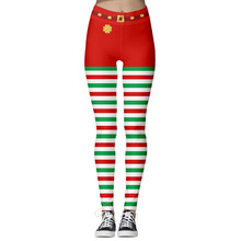 Women Christmas Leggings Fashion Casual High Waist Pants Sexy Digital Printing Slim