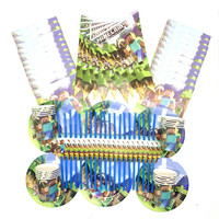 100 шт./лот мультфильм игры Minecraft детская День рождения украшения комплект вечерние принадлежности для дня рождения пакет для праздника вече...