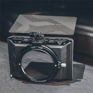 Image 1 - Mới Mini Di Động Matte Box Cho Tilta MB T15 Camera Lens Hood Dành Cho Máy Ảnh DSLR Máy Ảnh Không Gương Lật Các Bộ Phận Dự Phòng Sợi Carbon Top FENDER