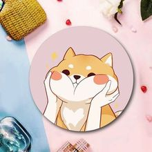 1pcs Cute mouse pad small round large cushion portable office home natural non-slip rubber mouse pad