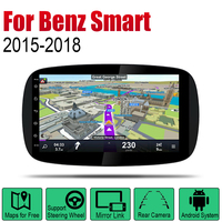 Android Car GPS Navi For Mercedes Benz Smart Fortwo 2015~2018 NTG player Navigation WiFi Bluetooth Mulitmedia system stereo