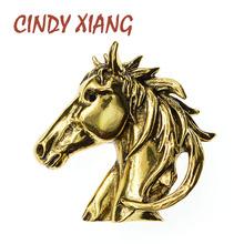 Cindy xiang Rhinestone mały samochód przypinane broszki dla kobiet kreatywny projekt broszka sweter biżuteria wiosna nowość prezent tanie tanio CN (pochodzenie) Ze stopu cynku Zwierząt BR10-0019 Moda Kobiety TRENDY Metal