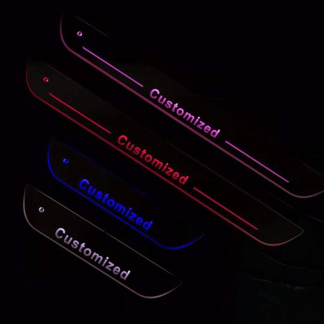 Osmrk led porte mobile éraflure pour Audi dynamique seuil de porte plaque doublure plate superpositions coulant lumière multi couleurs