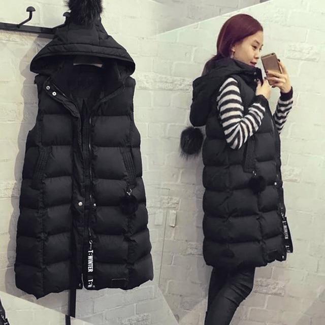 Women's Warm Vest Жилетка Женская Fashion Womens Plus Size Hoodie Waistcoat Vest Gilet Jacket Coat Outwear Жилет Женский 3