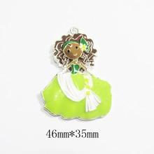 Newest !  46mm*35mm  10pcs/lot Princess Pendants For Fashion Kids Necklace Making
