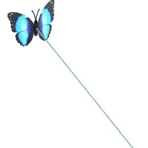 Image 4 - 5 sztuk/partia 7*25cm motyle ogród stoczni sadzarka kolorowe kapryśny motyl Stakes dekoracja na zewnątrz doniczki dekoracji