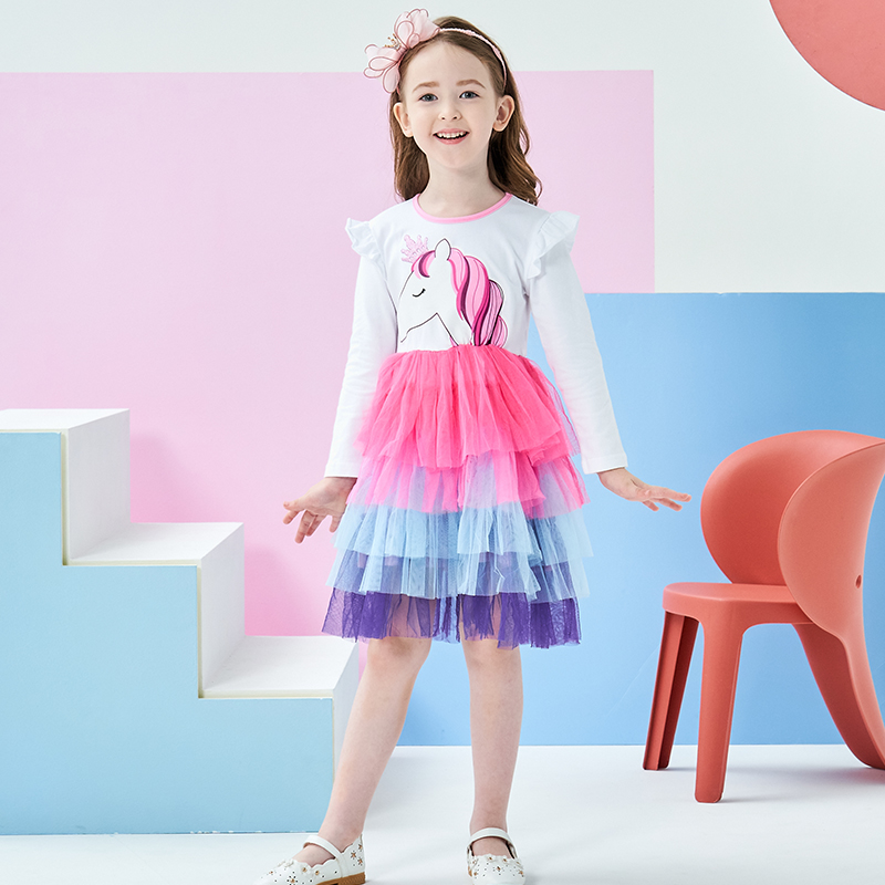 H9d043dce5e2b49fdbfc62e32415f8169E DXTON 2018 New Girls Dresses Long Sleeve Baby Girls Winter Dresses Kids Cotton Clothing Casual Dresses for 2-8 Years Children