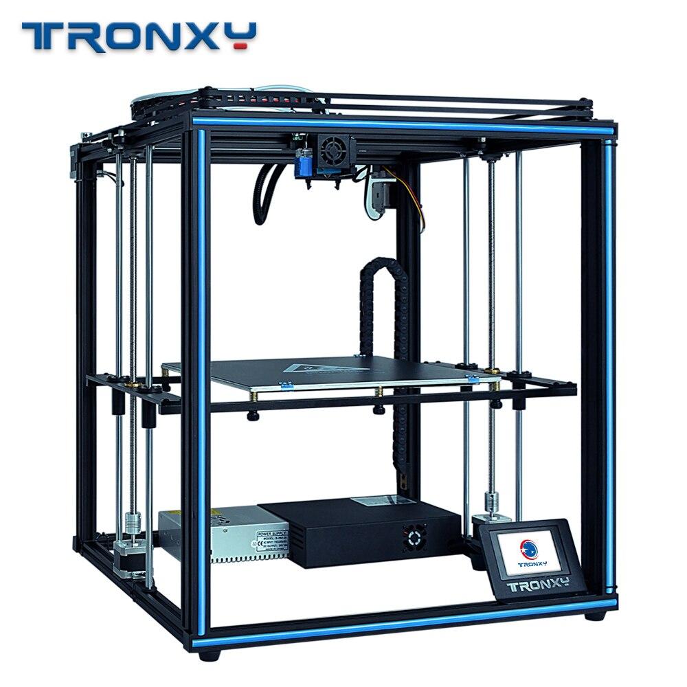 FDM Tronxy X5SA-400 3D stampante Kit FAI DA TE Auto livellamento Dello Schermo di Tocco di Calore letto 400*400 millimetri