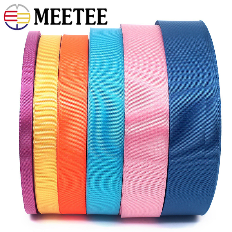 8Meter 0.7mm Thick Polyester Nylon Webbing Ribbon Strap Tapes Knapsack Backpack Belt Bias Binding DIY Clothes Sewing Accessories