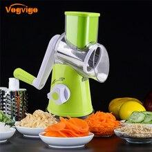 Vegetable Cutter Round Mandoline Potato Carrot Grater Slicer 3 Stainless Steel Multi-function Chopper Blades