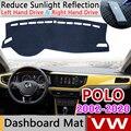Для Volkswagen VW POLO 9N 9N3 6R 6C AW 2002 ~ 2020 4 5 6 Противоскользящий коврик на приборную панель солнцезащитный коврик для панели автомобильные аксессуары