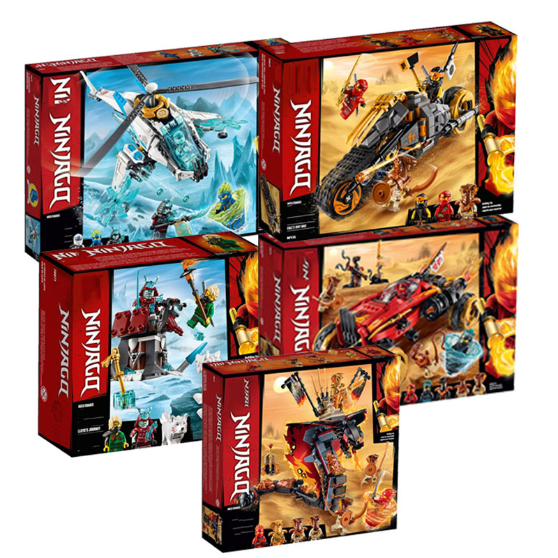 In Stock New Ninja Series Bricks Fire Fang Compatible Legoingly Ninjago 70674 70671 70672 Building Blocks Toys For Kids Gift