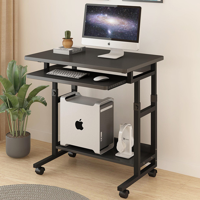 Bed Side Laptop PC Desk Desktop Computer Table With Keyboard Tray Desk Removable Lifting Study Desk Gaming Table