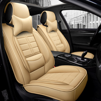 Pu Leather Car Seat Cover Covers for The Car Seat Cushion Universal for Toyota Accessories