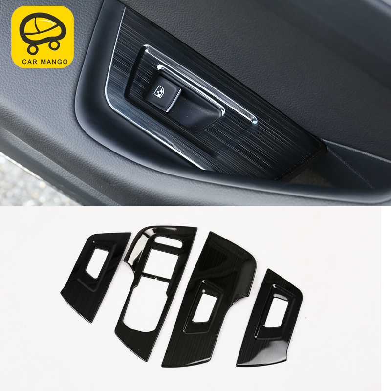 CARMANGO For VW Volkswagen Arteon 2019 Car Styling Window Control Panel Lift Button Cover Sitcker Frame Chrome Trim Accessories