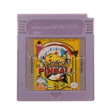 Nintendo GBC Video oyunu kartuşu konsolu kart Poke serisi langırt İngilizce dil sürüm