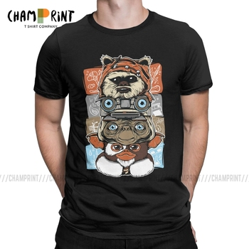 Novelty 80s Horror Christmas Movie Lcon T-Shirt Men Cotton T Shirts Gremlins Gizmo Monster Gremlin Tee Shirt Plus Size Clothing - discount item  40% OFF Tops & Tees
