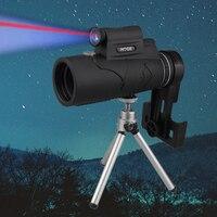 Profissional monocular para mobile night vision 50x60 laser iluminado ocular handheld lente objetiva caça óptica telescópio Lunetas Riflescopes     -