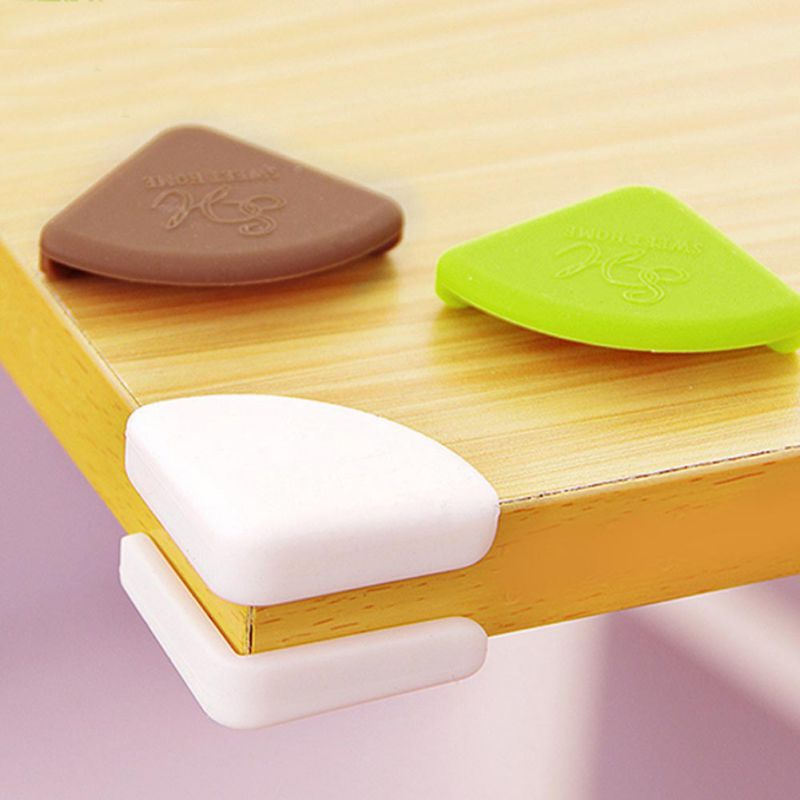 Silicone Desk Protective Cover Child Safety Table Baby Safe Crash Edge Guards Pads Table Corner Anti-collision Cover 4pcs/set