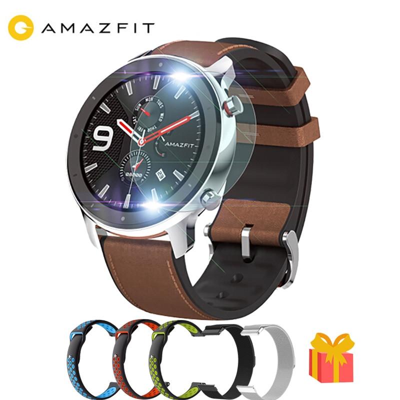 ES STOCK  47mm Huami AMAZFIT GTR Smart Watch Global Version GPS 5ATM Waterproof Smartwatch AMOLED Screen 24-Days Battery Life