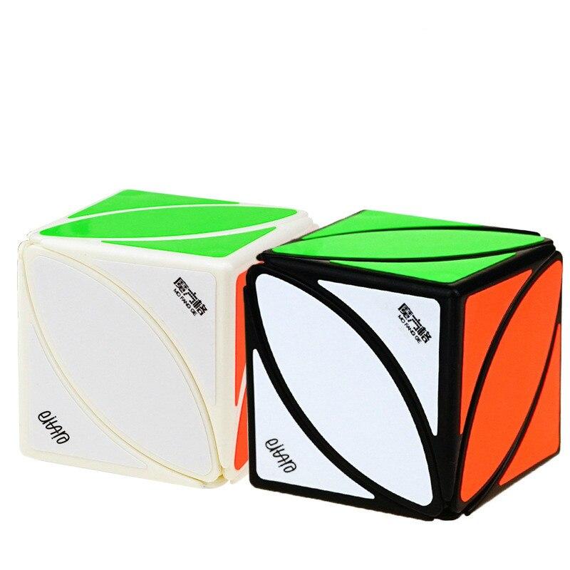 Antistress cubo magico profissional Velocidade Maple Leaf Em Forma de Magia neo Cubes Puzzle Adulto Crianças jogo Brinquedos para crianças educacional