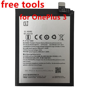Image 1 - new 3000mAh BLP613 High Quality Battery For OnePlus 3 One Plus 3 Cell Phone Battery+free tools
