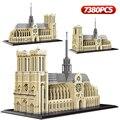 7380 шт. + алмазная мини модель Нотр-дама Парижа, строительные блоки, церковная архитектура, Тибет, дворец Potala, игрушки для детей