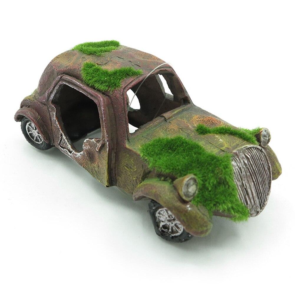 1 шт., украшение для аквариума, ландшафтный дизайн, смоляный мох, старый автомобиль, украшение для аквариума, украшение для автомобиля, декор...