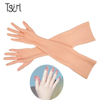 Silicone Prosthesis Female Hand Sleeve Highly Simulated Skin Artificial Arm Cover Scars