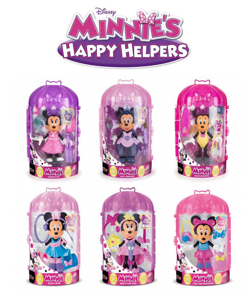Оригинальный Дисней Спальня Микки-Мауса Минни фигурка принцессы действие bjd куклы, игрушки для детей, день рождения, Подарочный стикер