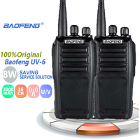"vhf uhf 2pcs Baofeng UV-6 מכשיר הקשר 8W Ham Radio Comunicador UHF VHF שני הדרך רדיו תחנת ארוך טווח ציד Talkie Walkie 50 ק""מ (1)"