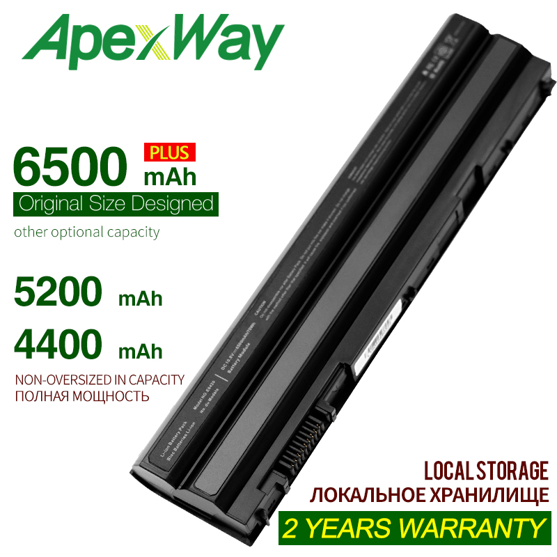 ApexWay 6500mAh New laptop battery for Dell Inspiron 15R (7520) Latitude E5420 E5420 ATG E5420m E5430 <font><b>E5520</b></font> E5520m E553 image
