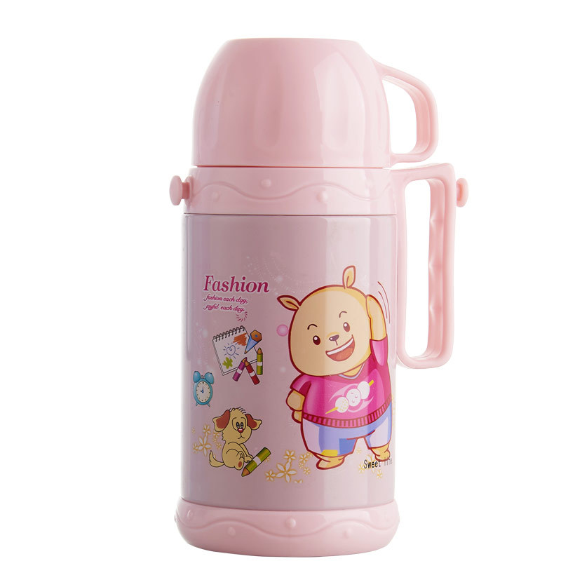 Baby Stainless Steel Heat Preservation Pot Children Students Large-Volume Kettle Princess Cup 500 Baby Cup