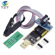 Tzt ch341a 24 25 séries eeprom flash bios usb programador módulo + soic8 sop8 clipe de teste para eeprom 93cxx/25cxx/24cxx kit diy