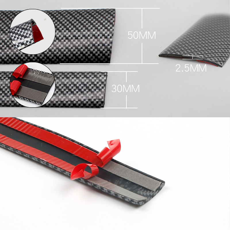 Image 2 - 3/5/7/10cmX2.5m Car Stickers 5D Carbon Fiber Rubber Styling Door Sill Protector Goods for KIA Toyota BMW Audi Mazda Ford Hyundai-in Car Stickers from Automobiles & Motorcycles