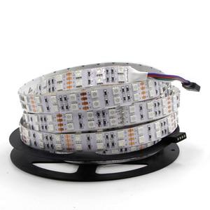 Image 3 - 5m Double Row 600 LED Strip light 5050 RGB + 2835 White / Warm White 12V 120 LED/m led Flexible ribbon tape lamp RGBW