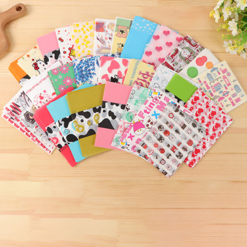 9x12cm 100 Sheets/bag Candy Bag Nougat Wrapping Paper Snack Food Packaging Cute Cartoon Paper