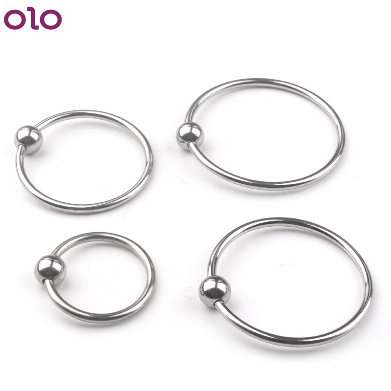Metal <font><b>Penis</b></font> <font><b>Ring</b></font> Glans Stimulating Stainless <font><b>Steel</b></font> Cock <font><b>Rings</b></font> Delay Ejaculation Sex Toys for Men Couple Penile Erection Cockring image