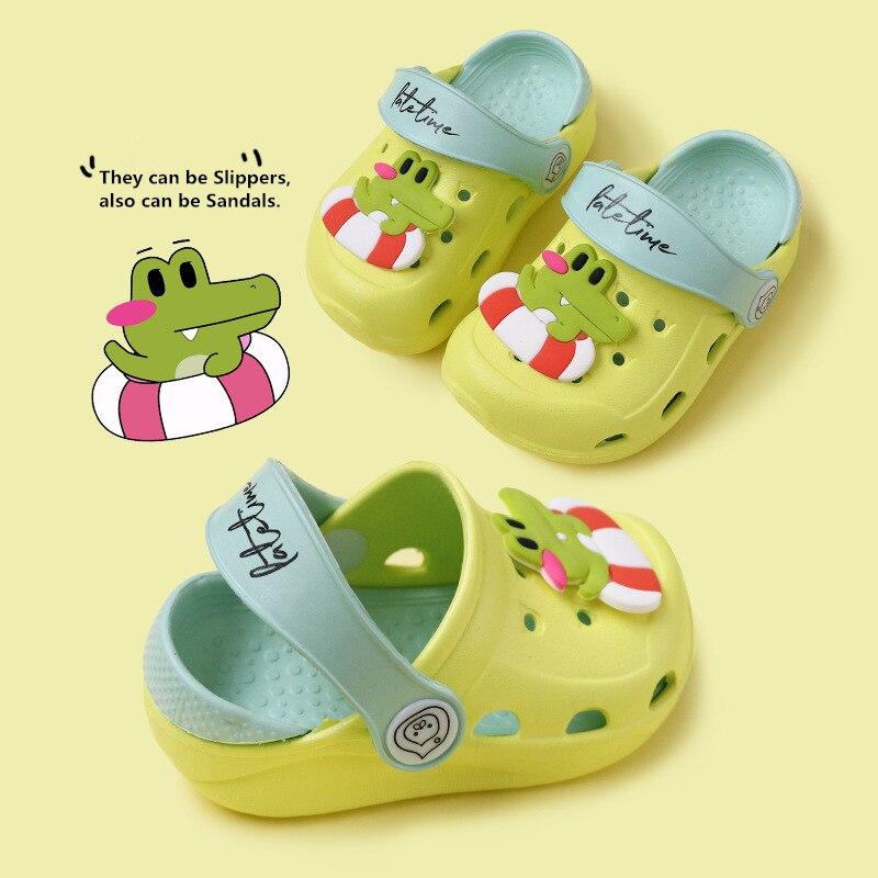 Summer Baby Beach Sandals Girls Boys Slippers Cute Crocodile Design EVA Children Shoes Slippers For 1-5T Kids Toddler Shoes