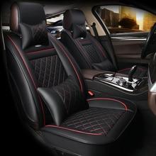 HLFNTF Leather Car Seat Covers For Hyundai solaris ix35 i30 ix25 Elantra accent tucson 2016 car accessories car-styling for hyundai solaris hatchback special seat covers full set model turin eco leather
