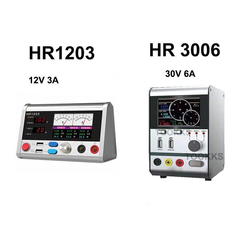Hr3006 30 v 6a inteligente regulador de tensão corrente de energia com carregamento rápido usb porta ferramenta reparo do telefone atualizado a partir hr1203 - 4