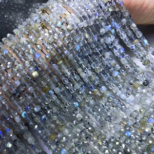 Grânulos de cubo facetados naturais de pedra preciosa 4.5-5mm para fazer joias 15.5 polegada labradorite apatite garnet pedra solar olivine rosa