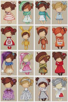 Robótki 14CT ściegiem krzyżykowym majsterkowanie zestaw do haftowania magiczna lalka tanie i dobre opinie Zwierząt PACKAGE Obrazy Składane 100 COTTON Other