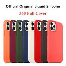 Oficial caso líquido original para iphone 11 12 pro max se 2020 casos de silicone para iphone xr xs x 7 8 plus 6s capa com caixa