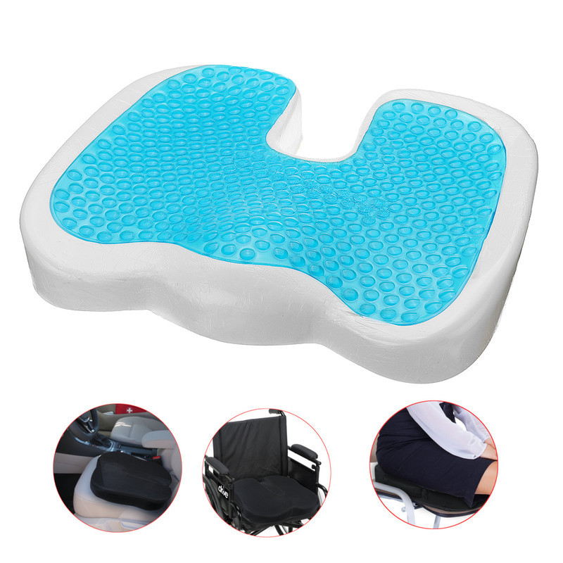 Acne Orthopedic Coccygeal Sciatica Tail Bone Relie Office Home Page Gel Memory Foam Seat U-Cooling Effect
